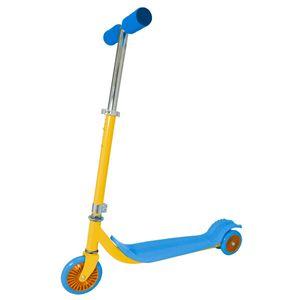 Patinete-Surf-3-rodas-Azul-e-Amarelo