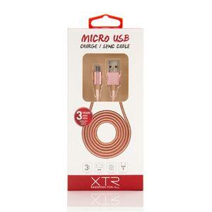 Cabo-Micro-USB-XTR-15m---Rosa-Dourado-