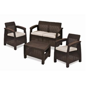 Kit-Sofa-2-Poltronas-e-1-Mesa-de-Centro-Corfu-Storage-Set-Keter-Marrom