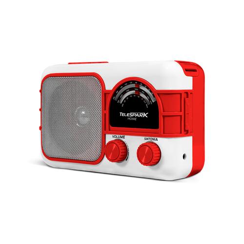 Radio-Retro-com-Bateria-Bluetooth-AM-FM-Vermelho