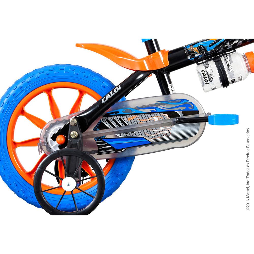 bda227e09 Bicicleta Infantil Caloi Hot Wheels Aro 12 - Preto - vitrinedireta
