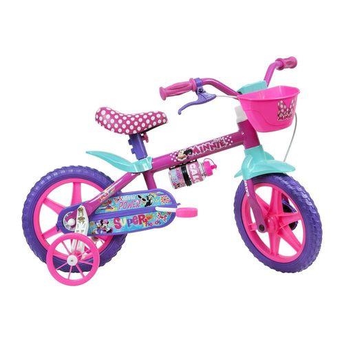 Bicicleta-Infantil-Caloi-Minnie-Aro-12---Roda-Lateral-Para-lamas---Rosa
