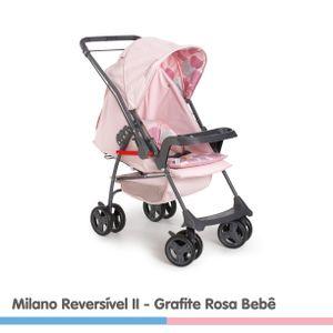 CARRINHO-MILANO-REV-II-GRAFITE-ROSA-BEBE-GROB