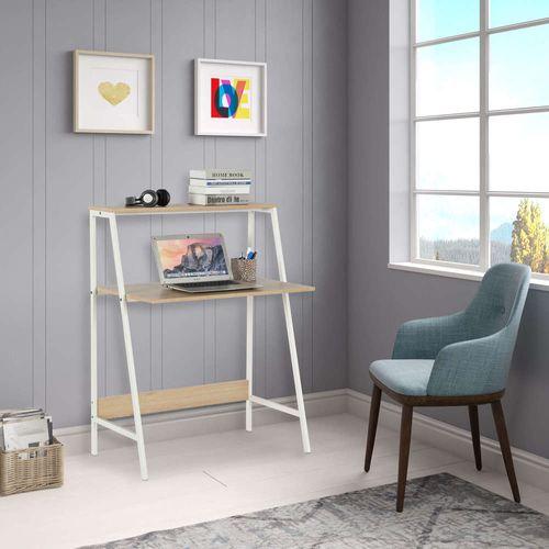 Mesa-para-Computador-Ladder-Desk-Cosco-Home---Branco-e-Madeira